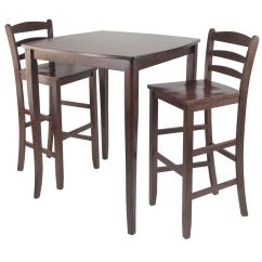 Chairs For High Table Walmart Camp 3pc Inglewood Pub Dining With Ladder Back Stool