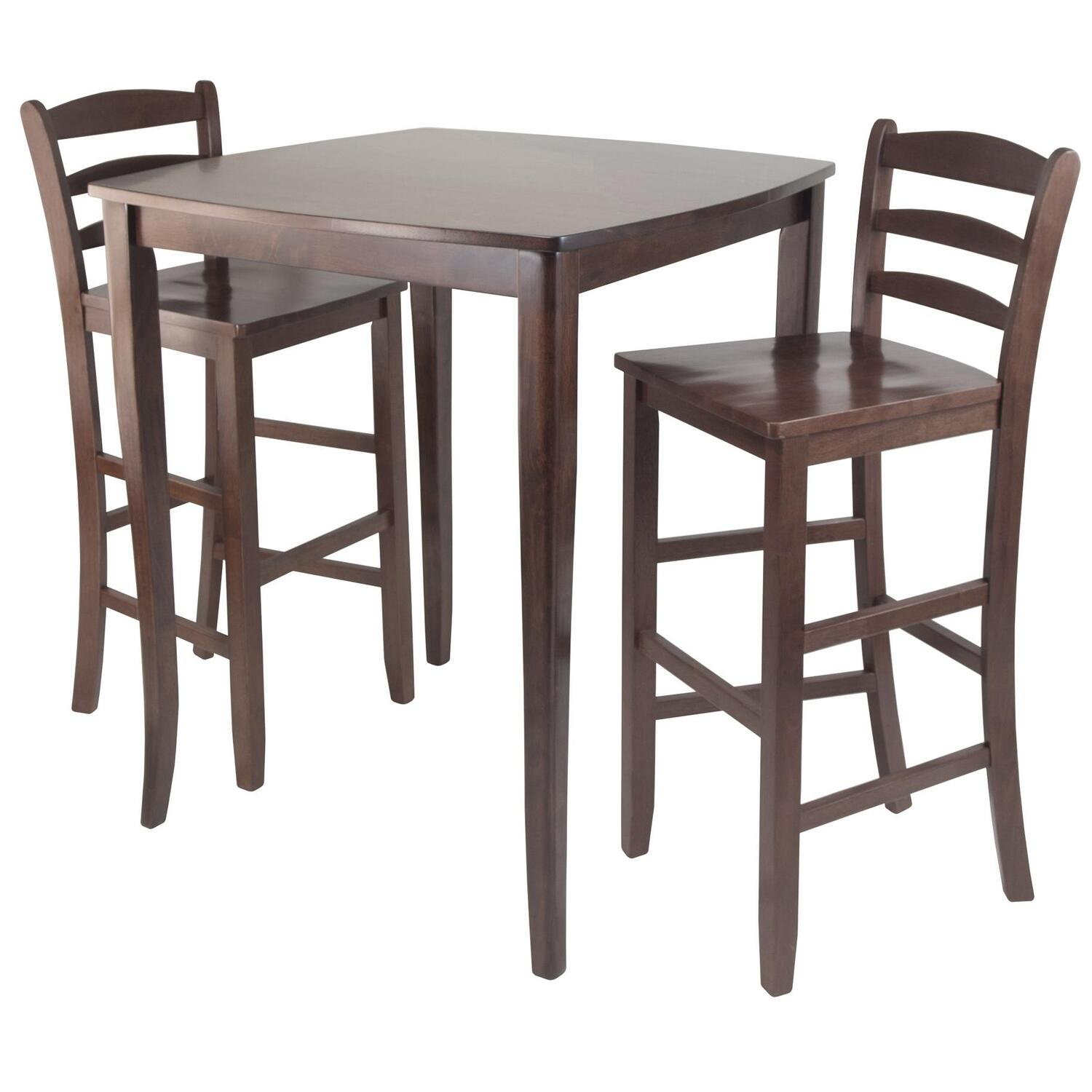 Table Top High Chair 3pc Inglewood High Pub Dining Table With Ladder Back Stool