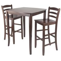 3pc Inglewood High/Pub Dining Table with Ladder Back Stool ...