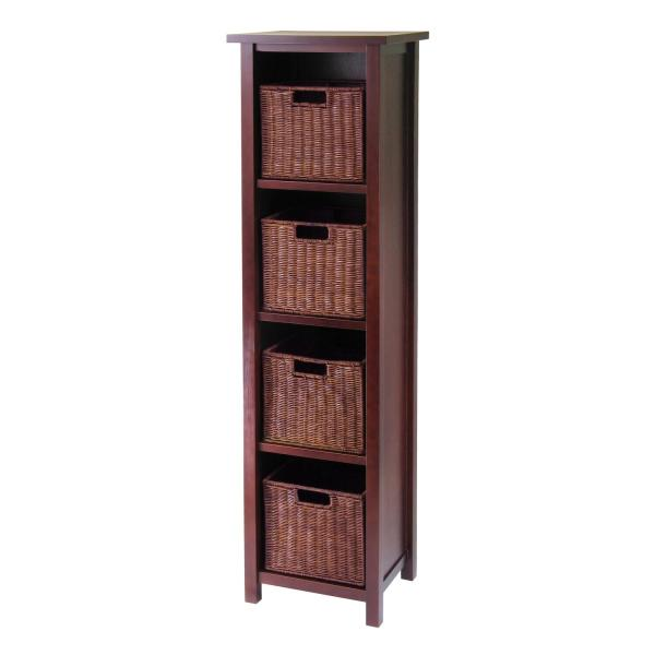 Milan 5pc Storage Shelf With Baskets; Cabinet And 4 Small 3 Cartons Ojcommerce