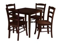 Winsome Groveland 5pc Square Dining Table with 4 chairs by ...