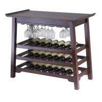 Chinois Console Wine Table with Glass Rack - $177.44 ...