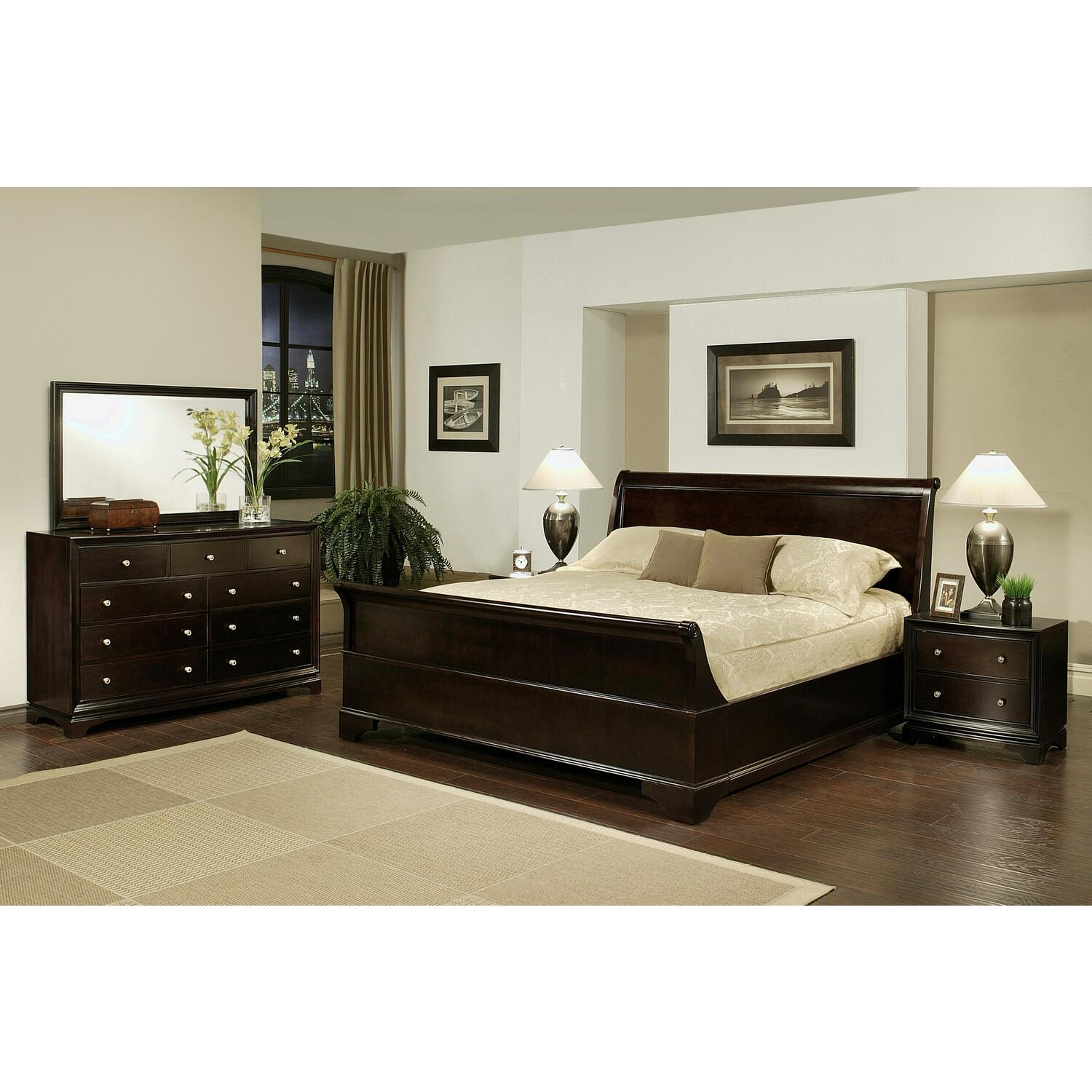 5piece Sleigh Queensize Bedroom Set  OJCommerce