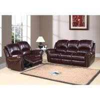 Abbyson Living Reclining Italian Leather Sofa and Loveseat ...
