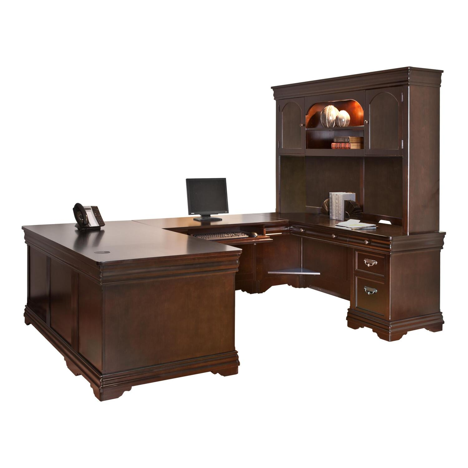 Martin Furniture Beaumont UShaped Desk by OJ Commerce