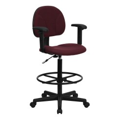 Drafting Chairs With Arms Nautica Beach Chair Flash Burgundy Fabric Multi Functional Ergonomic