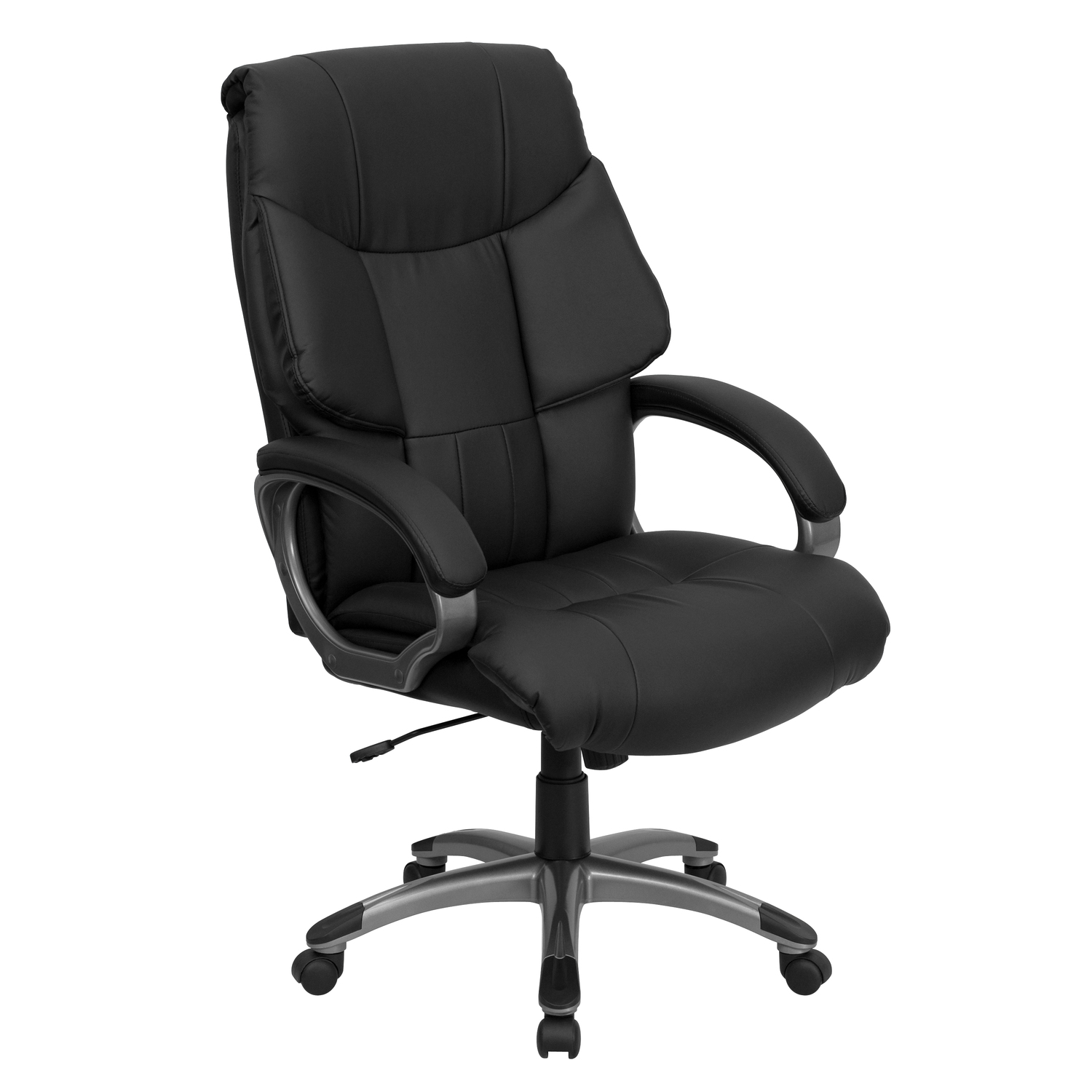 Wingback Office Chair Flash High Wing Back Black Leather Executive Office Chair