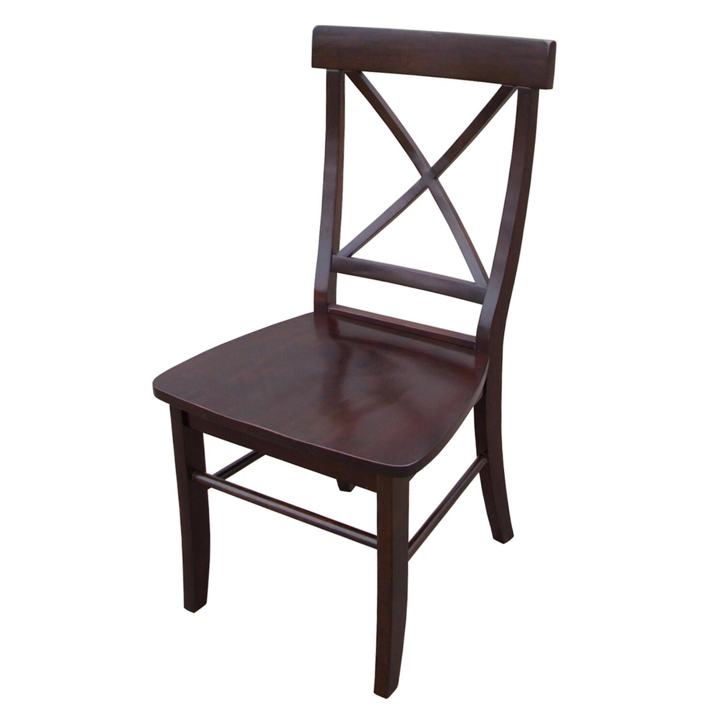 x back chairs double seat folding chair international concepts with solid wood
