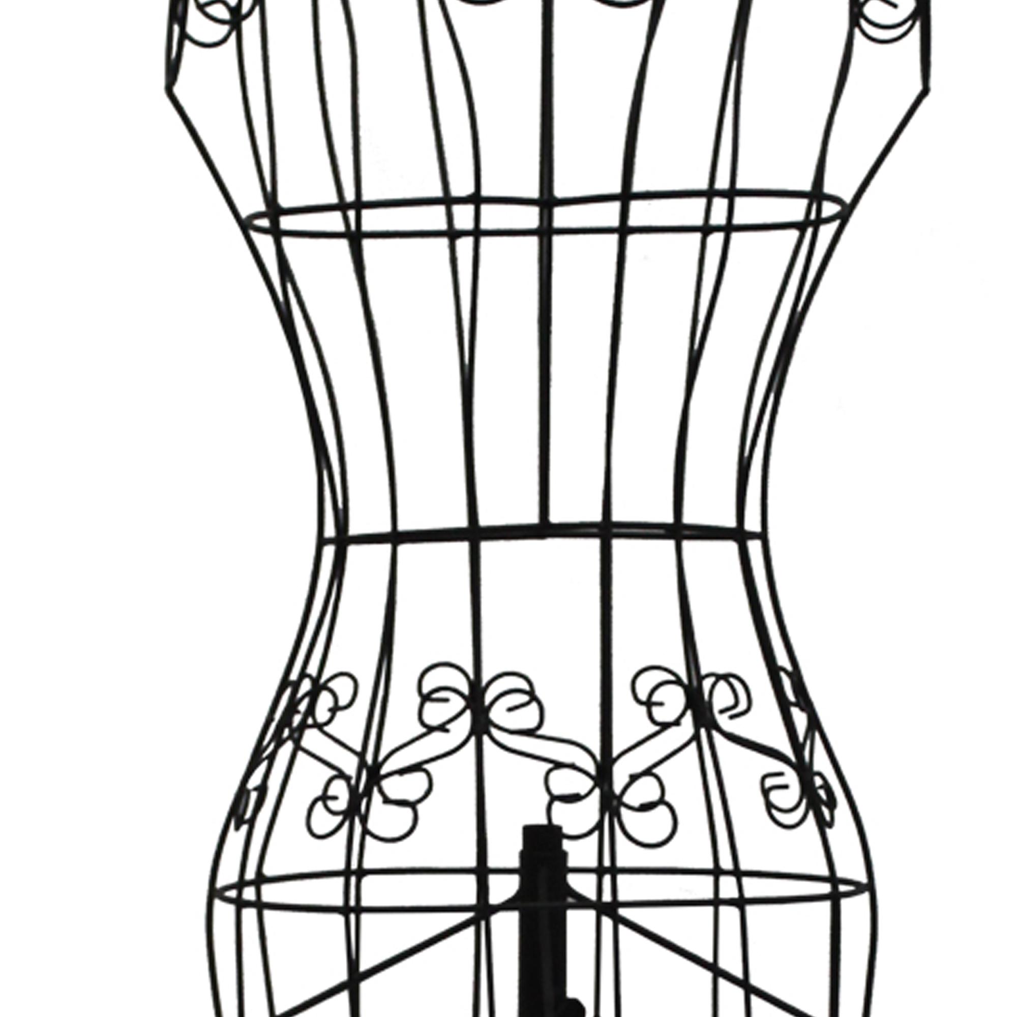 Benzara Benzara Wire Frame Metal Mannequin Display Stand