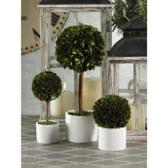Kitchen Stools With Back Designs For Small Spaces Preserved Boxwood Topiary   Ojcommerce