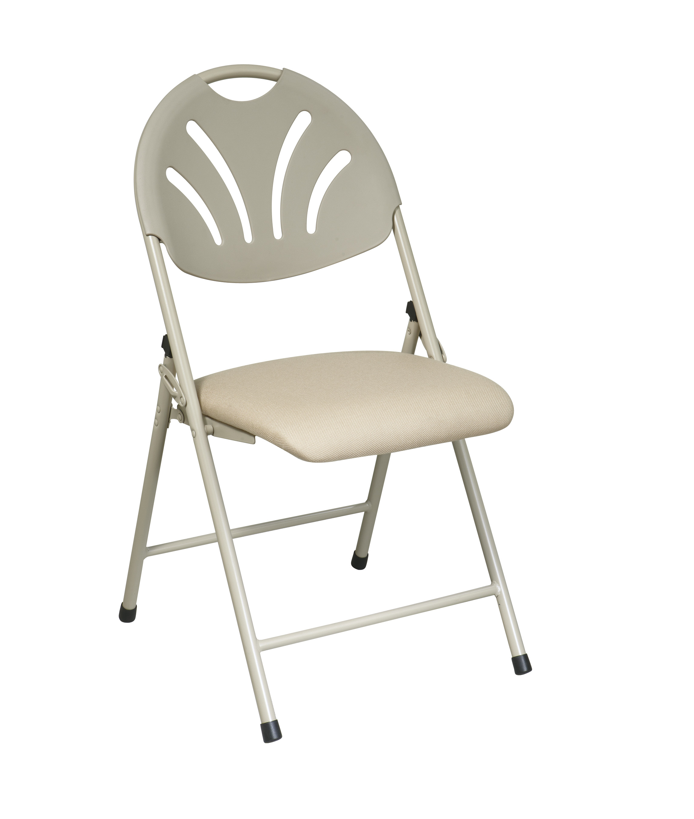 Fabric Folding Chairs Office Star Fc8100nbg 11 Folding Chair With Fabric Seat