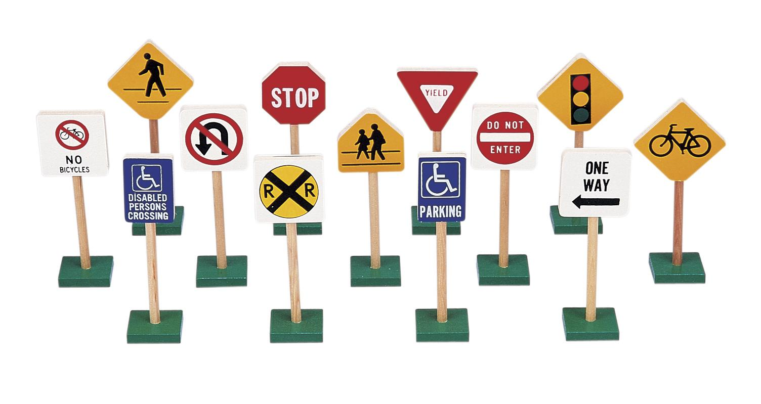 Guidecraft 7 Block Play Traffic Signs By Oj Commerce G309