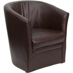 Fishing Guest Chair Bassett Ellis Executive Flash Furniture Brown Leather Barrel Shaped By