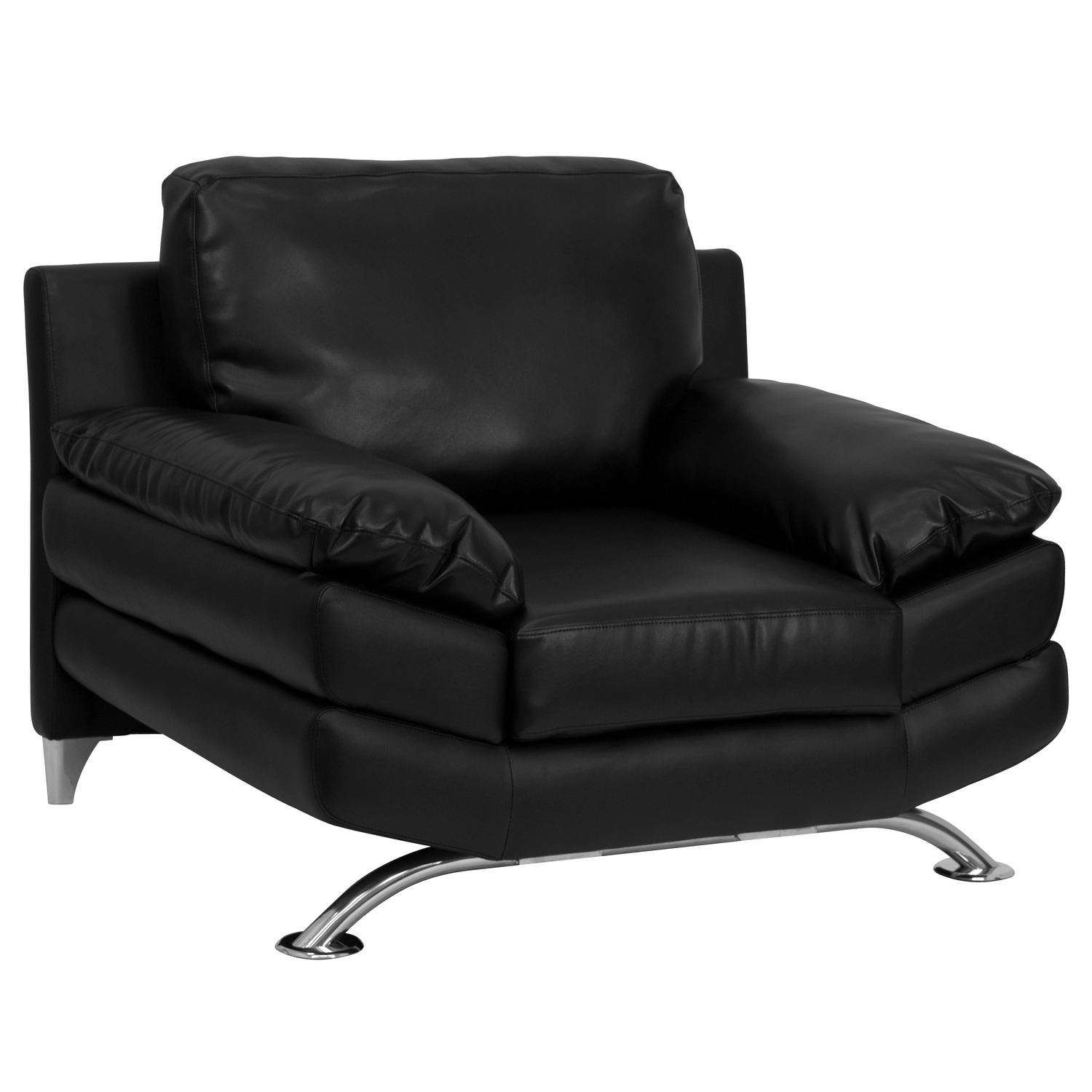 plush leather chair modern red flash hercules excel series black with