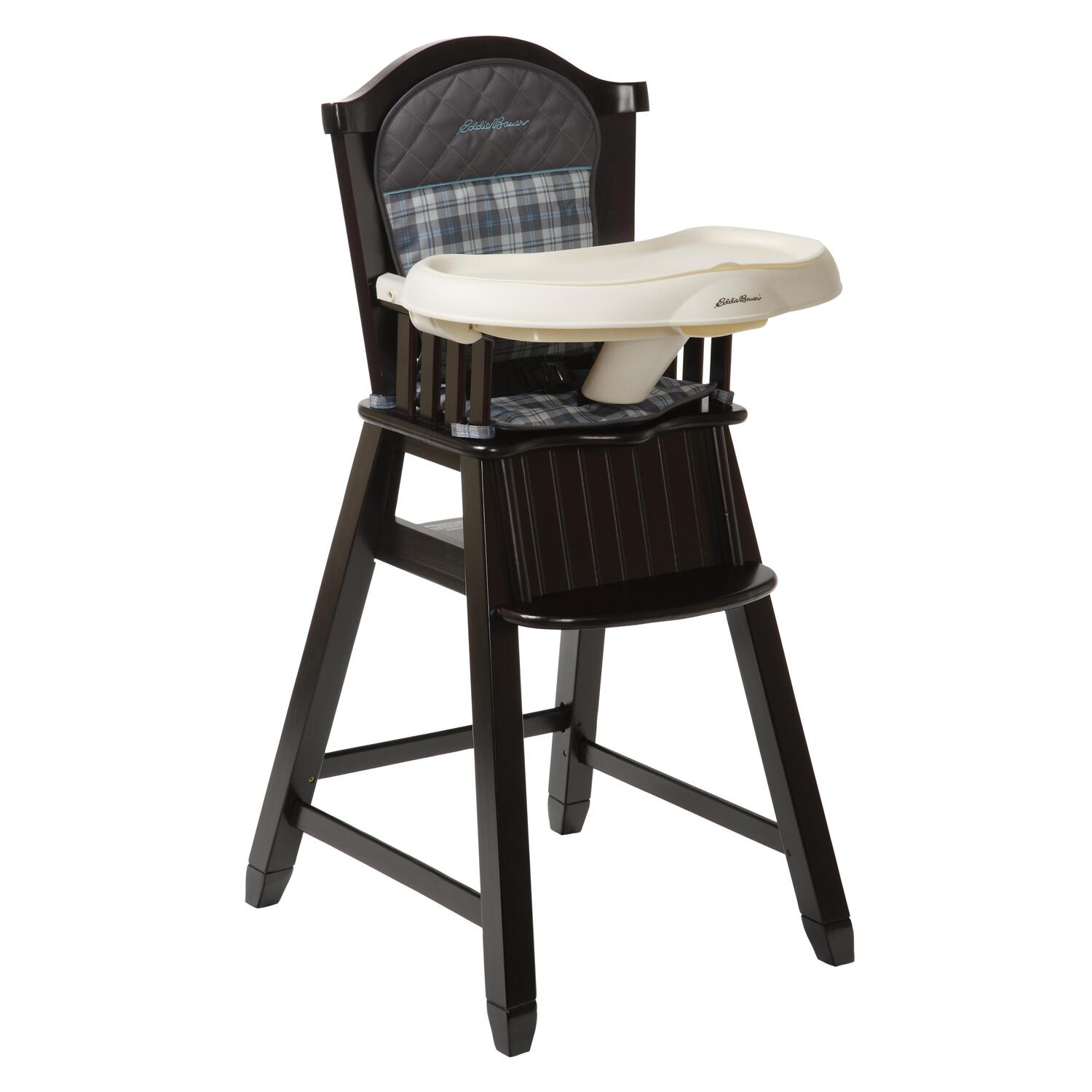 wooden high chairs for babies restoration hardware madeline chair eddie bauer wood ridgewood