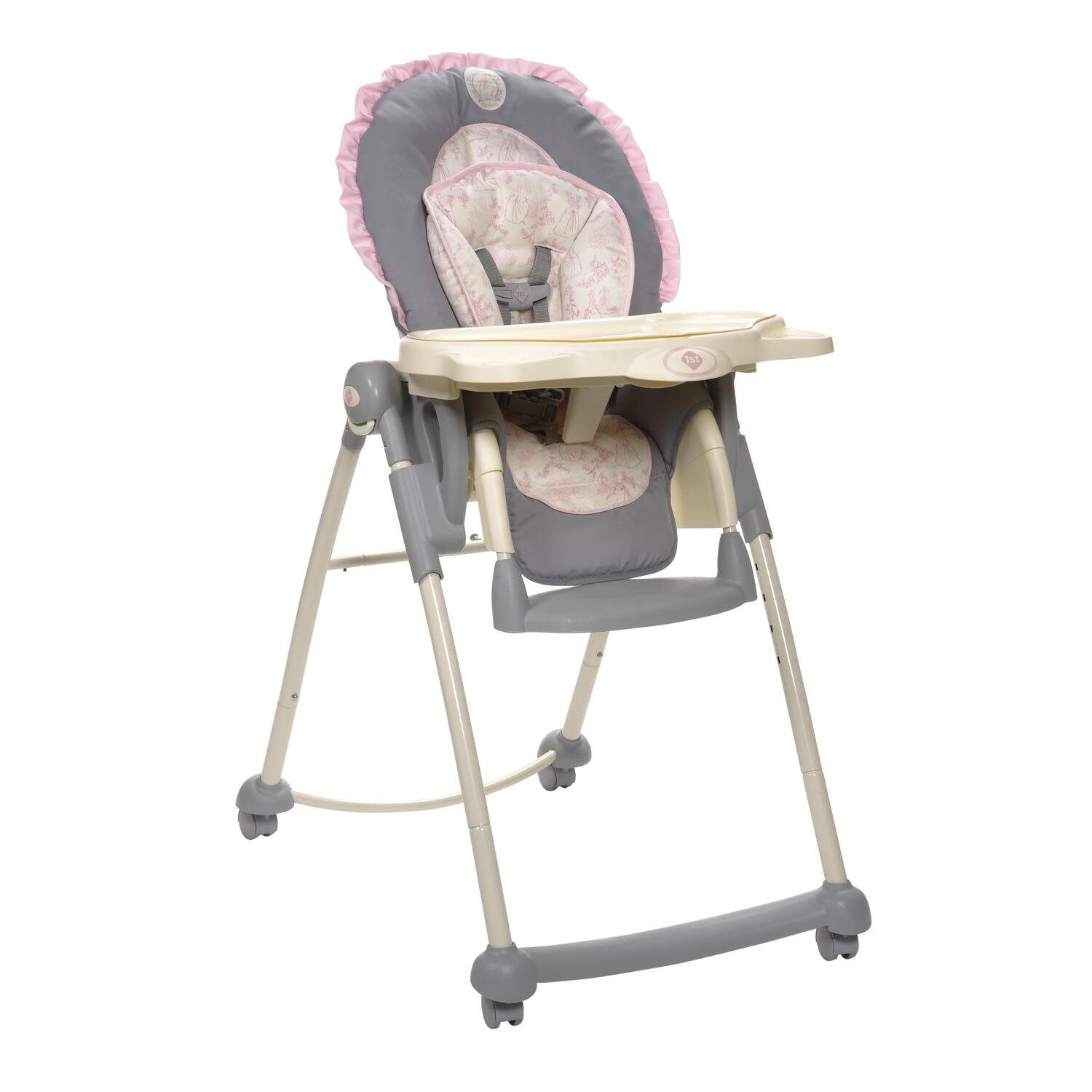 toys are us baby high chairs executive brown leather office disney princess chair silhouette