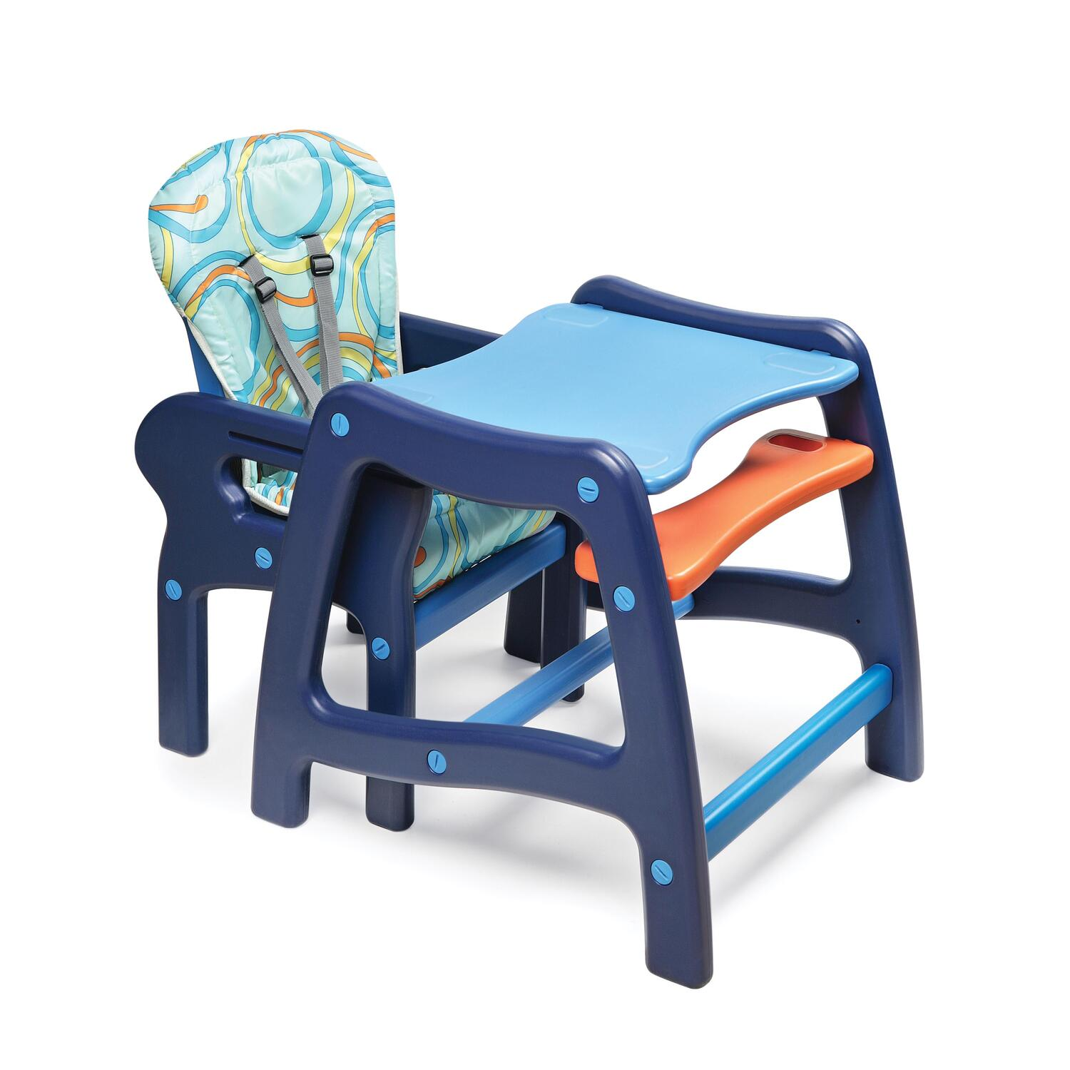 badger basket high chair cushion to relieve back pain envee baby with playtable conversion from