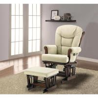 Upholstered Glider and Ottoman Set | Glider Recliner with ...