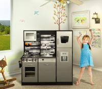 Wooden play kitchen set / Kids toy kitchen - Naomi Home