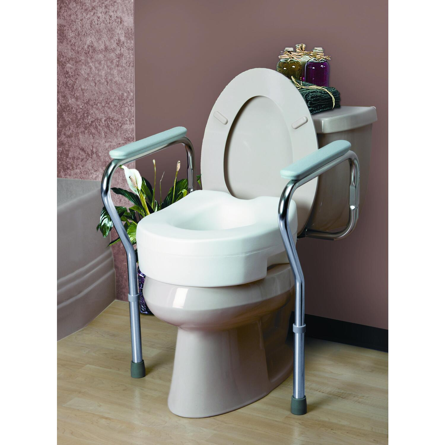 handicap potty chair dining room table and chairs for sale invacare toilet safety frame 32 99 46 94