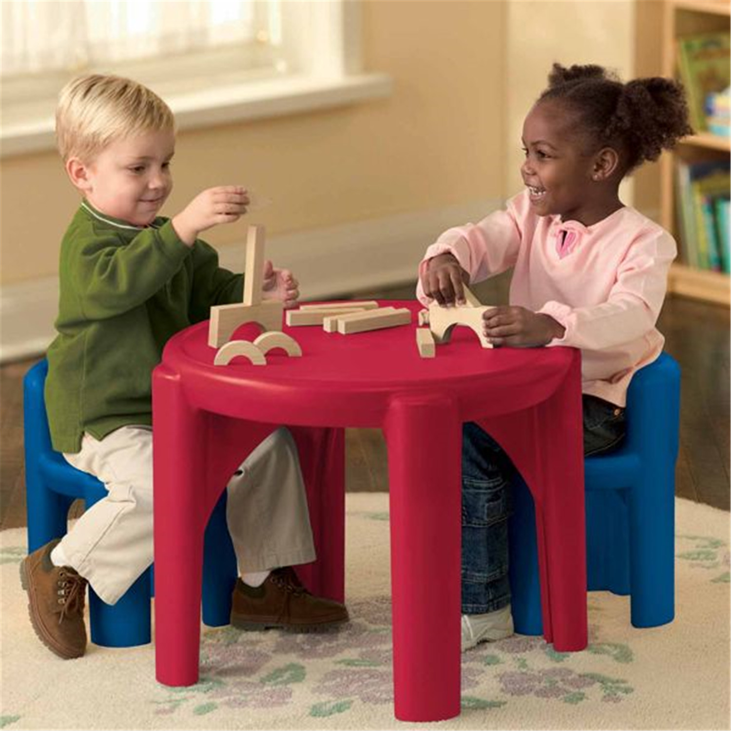 little tikes table and chair set swivel automation chairs set- primary colors | ojcommerce