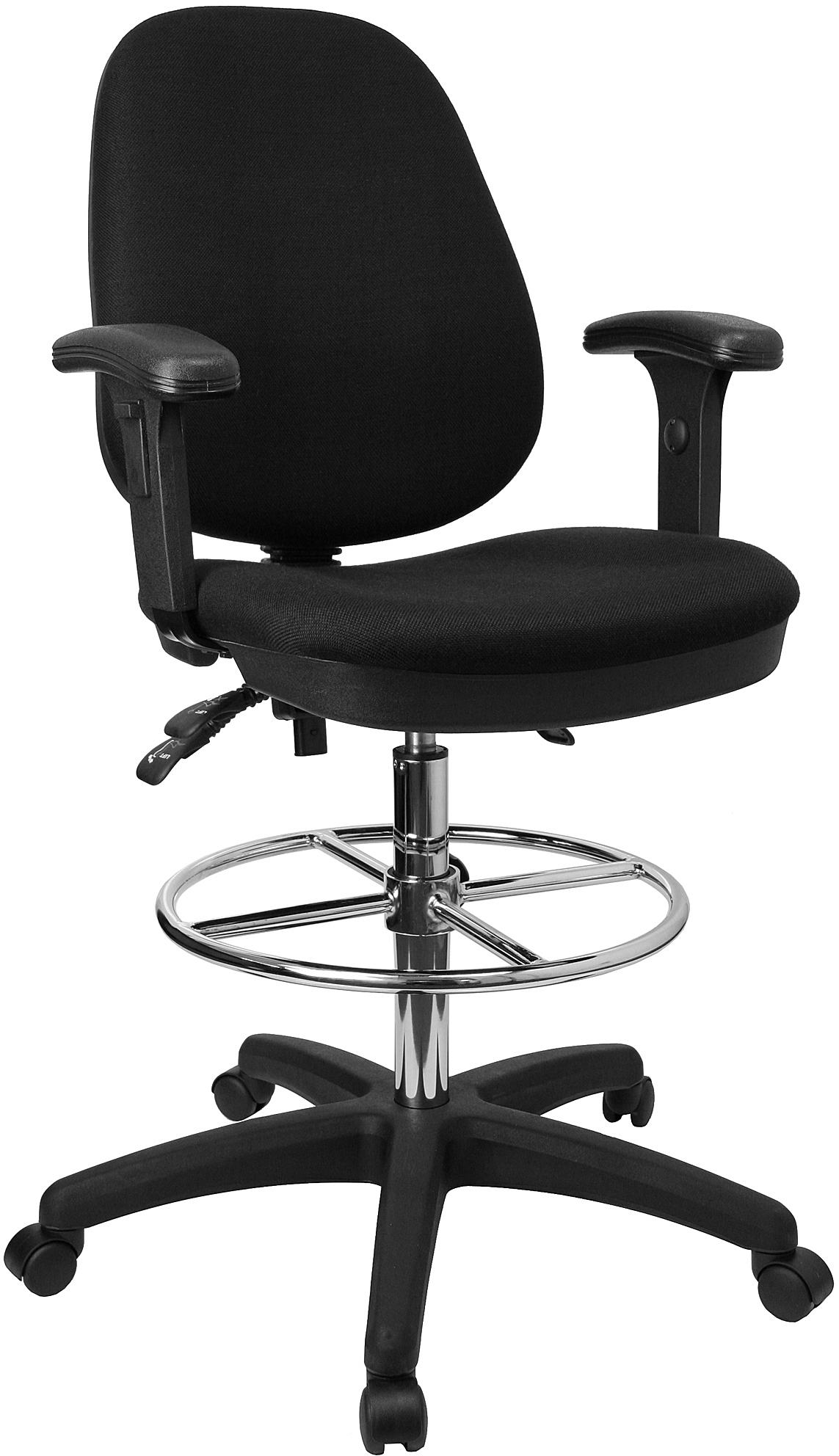 ergonomic drafting chair with arms crate and barrell chairs flash multi functional triple paddle