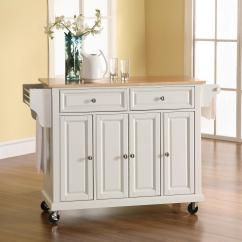 Solid Wood Kitchen Island Refinishing Cabinets White Furniture Home Goods Appliances Athletic Gear Fitness
