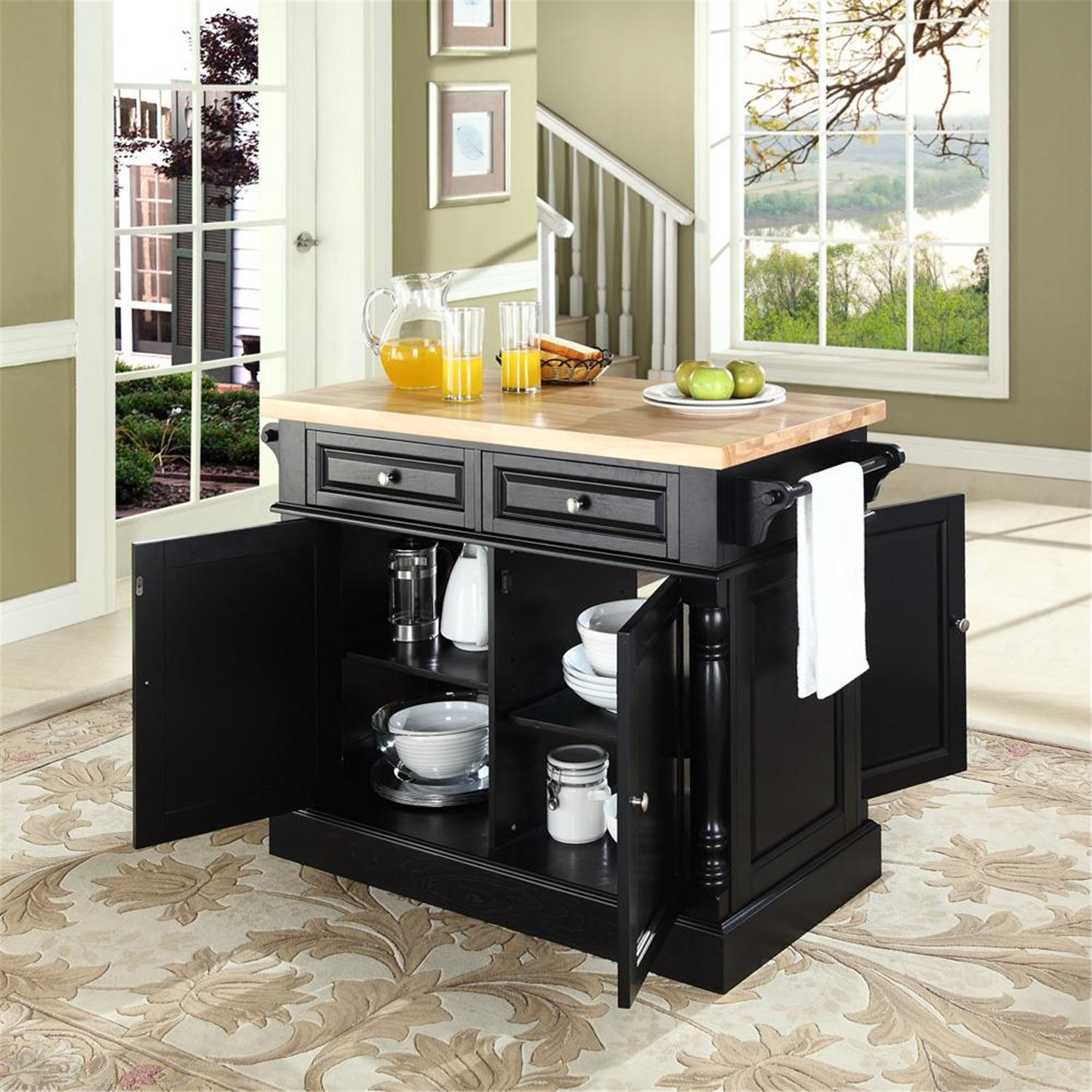 large white kitchen island sink cabinet size butcher block - from $551.48 to $960.99 ...