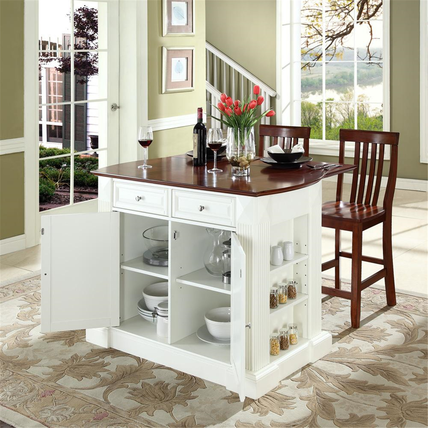 kitchen island on wheels with seating game furniture, home goods, appliances, athletic gear, fitness ...