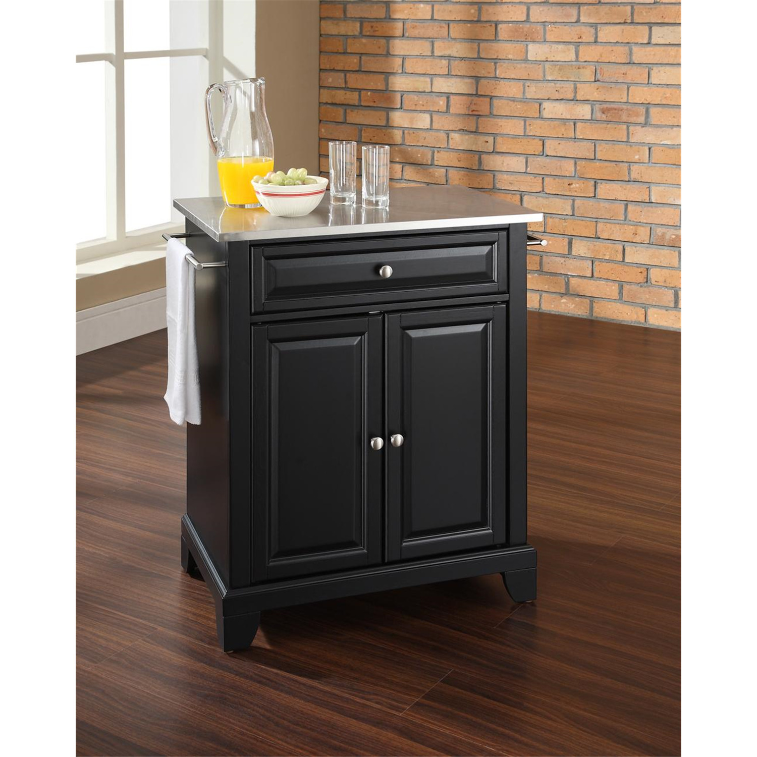 kitchen island portable tile top table crosley newport by oj commerce