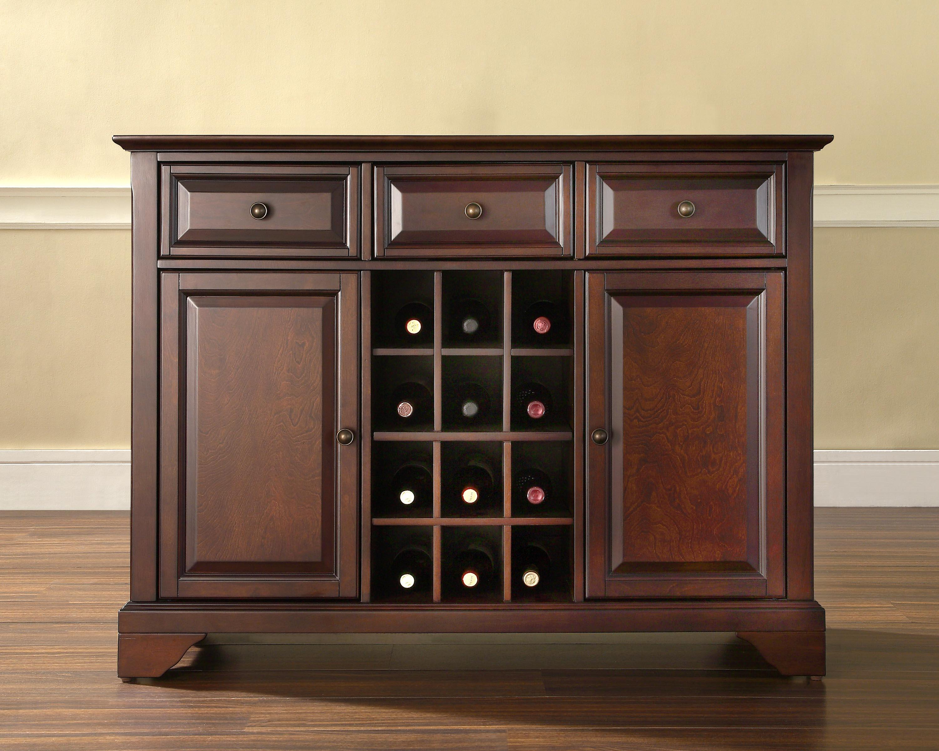kitchen sideboard cabinet replacement sprayer crosley lafayette buffet server with