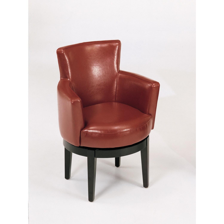 Armen Living Leather Swivel Club Chair by OJ Commerce 39600