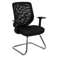 Flash Black Mesh Back Office Side Chair with Mesh Fabric ...