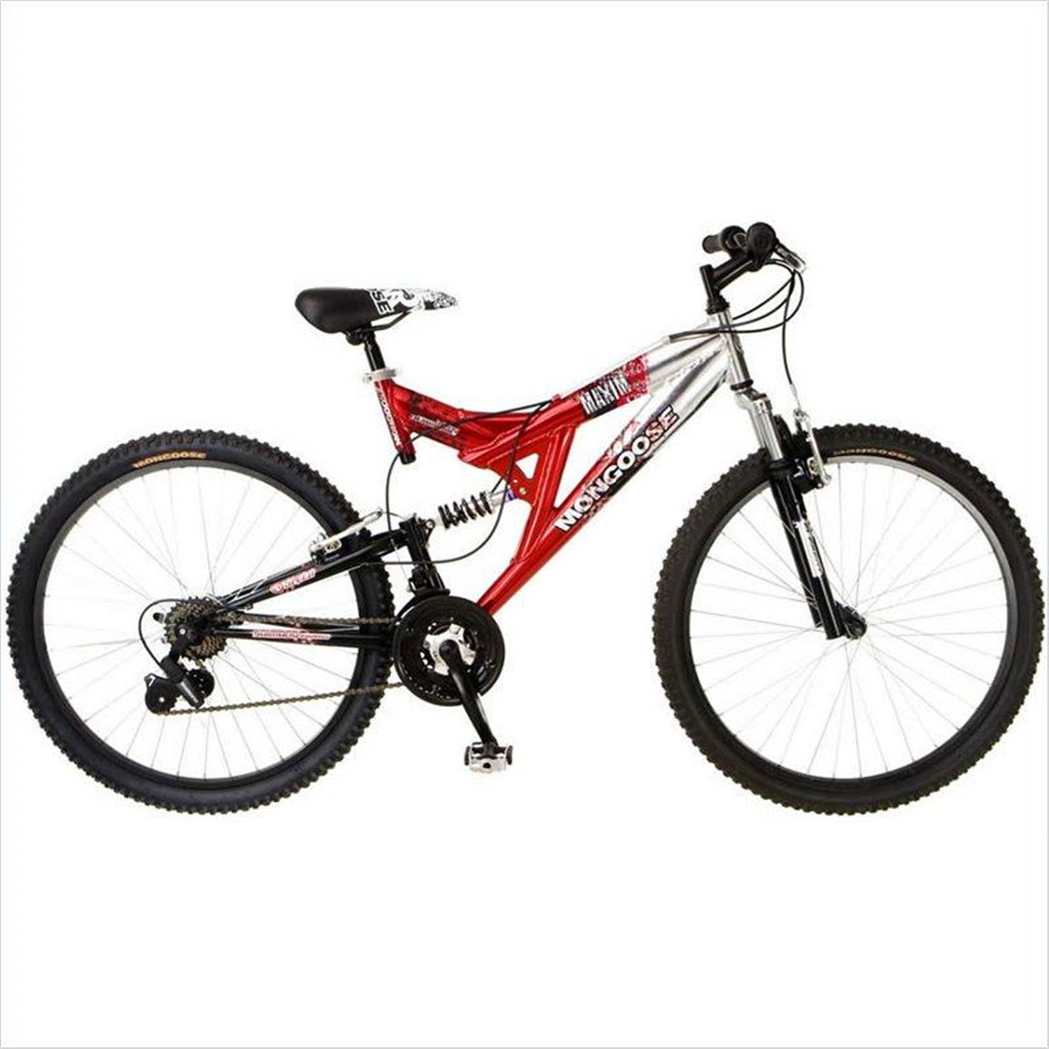 Boys/Men's Bicycle: MGX Mongoose, 24 speed, Silver and