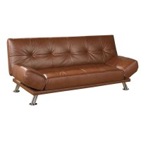 ORE International R8114ALM Leather Futon Sofa Bed