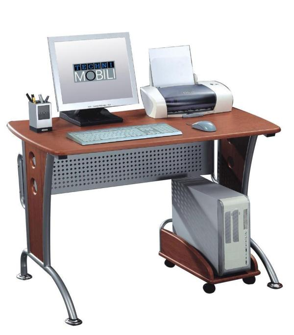 Techni Mobili Modern Computer Desk With Mobile Cpu Caddy - 120.99 Ojcommerce