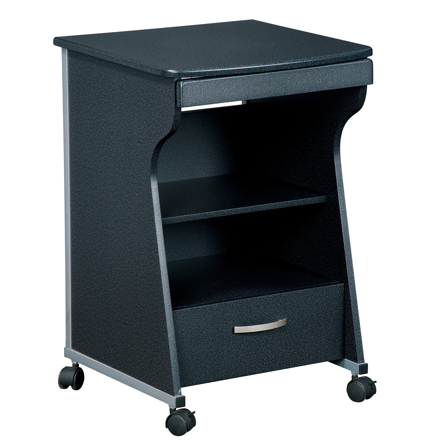 rolling desk chair with locking wheels revolving wing techni mobili file cabinet by oj commerce rta s08