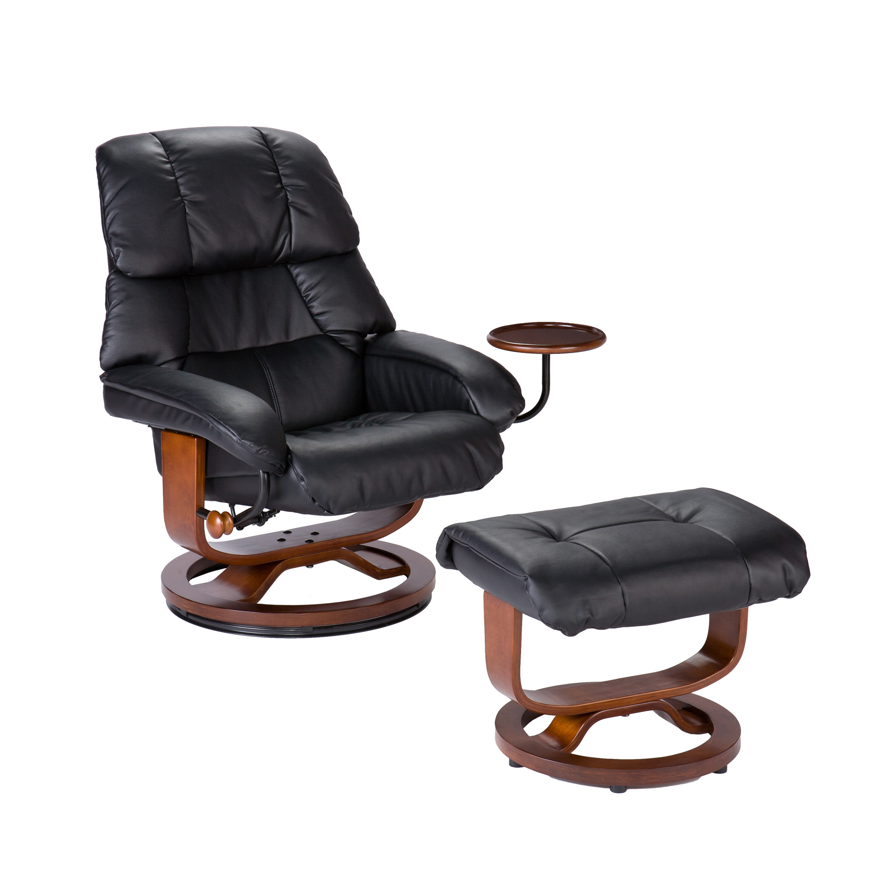 reclining chair with ottoman leather v rocker gaming australia southern enterprises modern recliner and