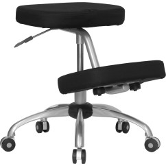 Ergonomic Chair Knee Rest Industrial Chairs Flash Mobile Kneeling In Black Fabric With