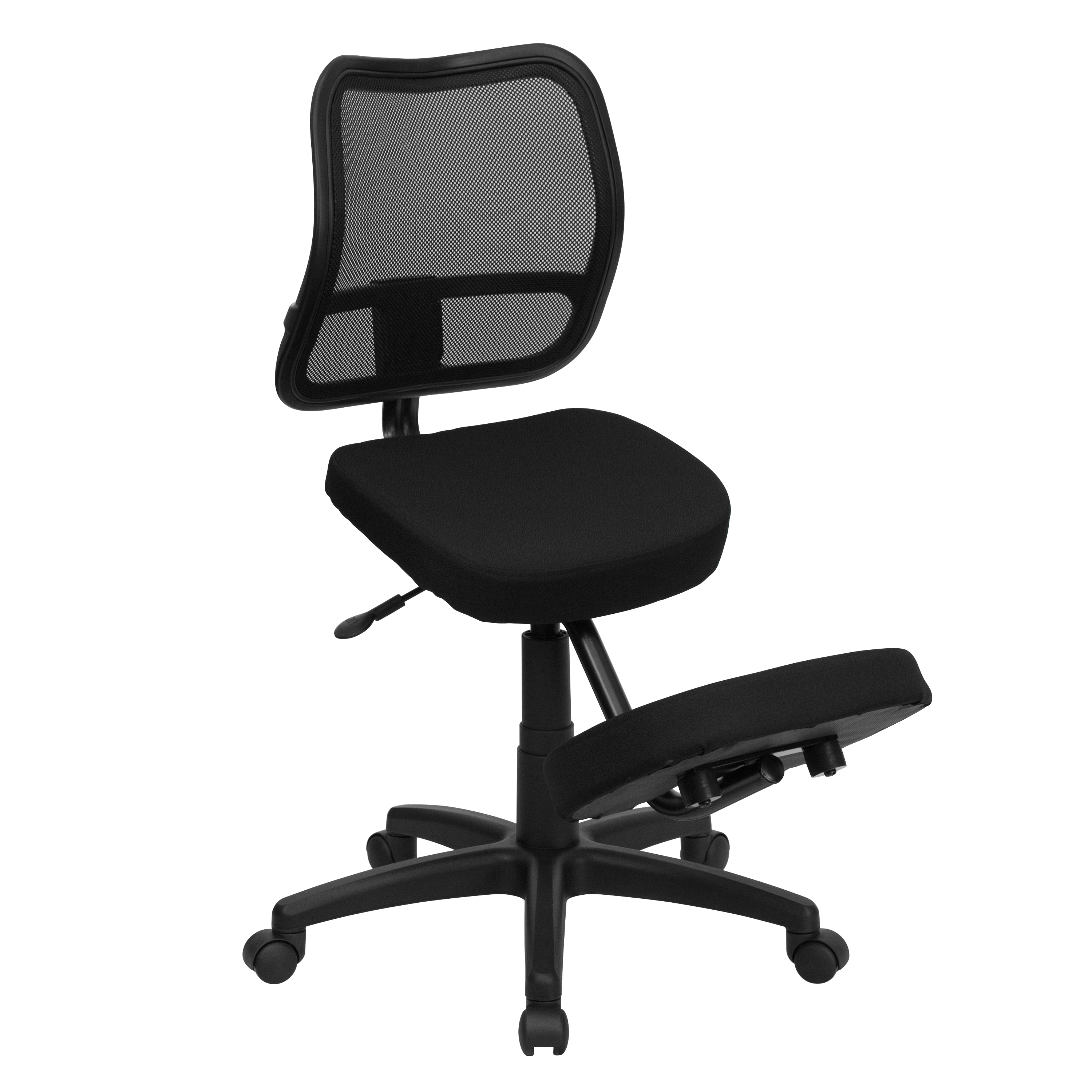 Ergonomic Chair Kneeling Flash Mobile Ergonomic Kneeling Task Chair With Black