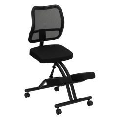 Ergonomic Chair Kneeling Black Upholstered Flash Furniture Mobile With