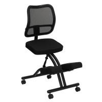 Flash Furniture Mobile Ergonomic Kneeling Chair with Black ...