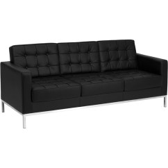 Steel Frame Sofa Sleeper Double Bed Flash Furniture Hercules Lacey Series Contemporary Black