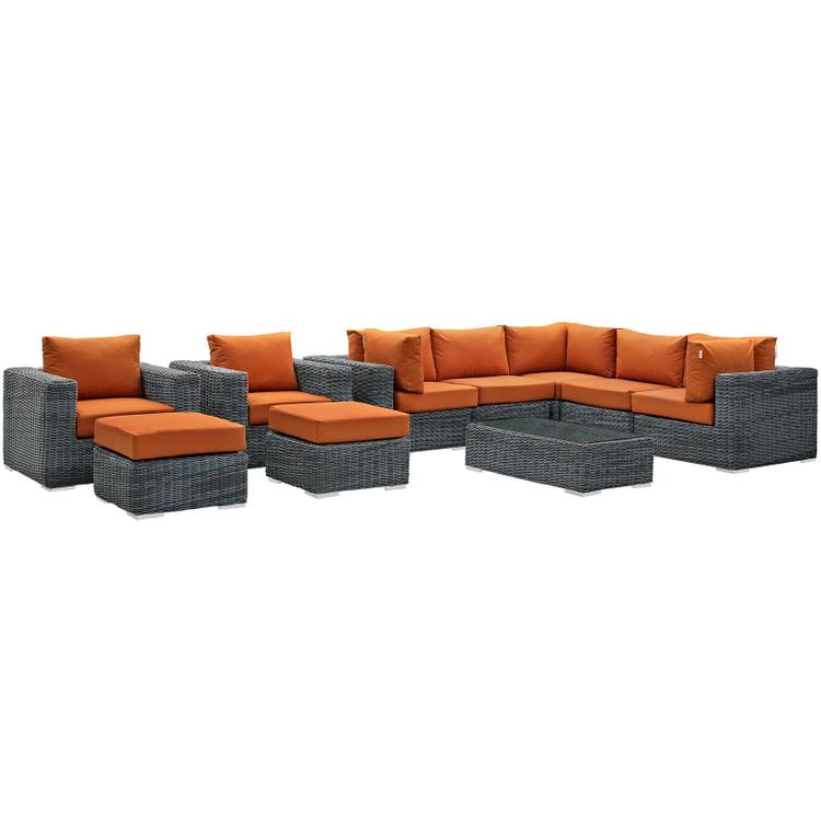 lexmod monterey outdoor wicker rattan sectional sofa set ashley maier 2 pc with left corner chaise sectionals patio furniture ojcommerce summon 10 piece sunbrella