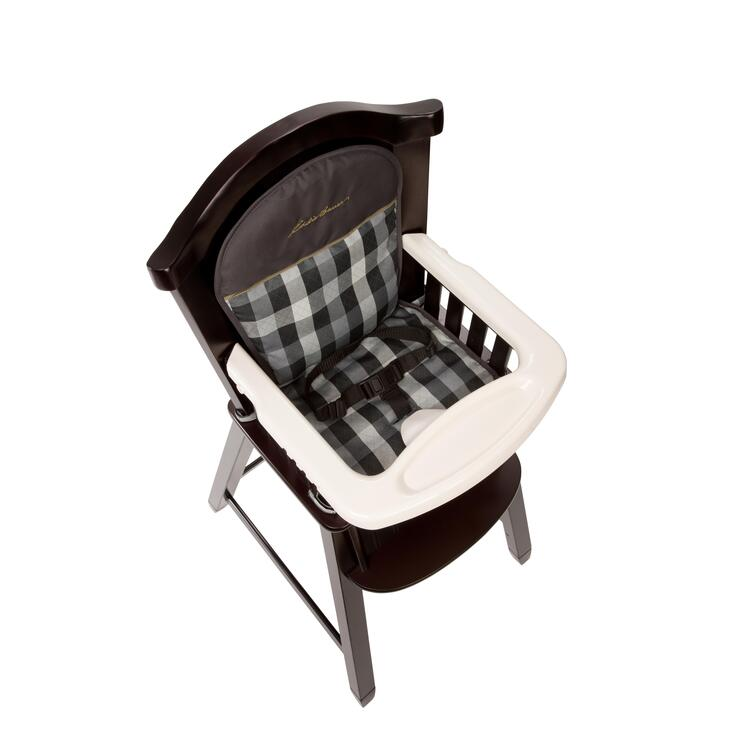 eddie bauer wood high chair black dining room covers evergreen ojcommerce