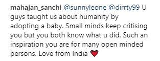 Sunny Leone Instagram comments 2