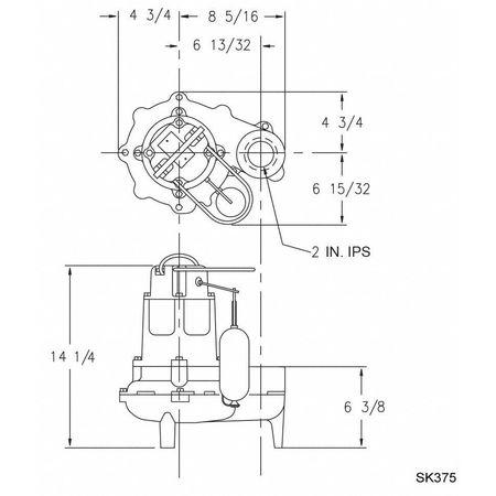 Zoeller Waste-Mate 1/2 HP 2