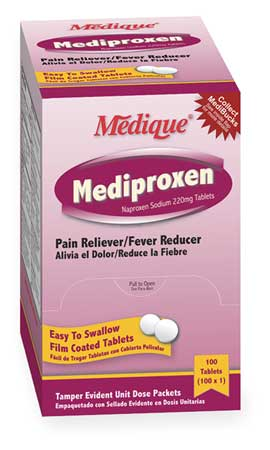 Medique Pain Relief Tablet 220mg PK100 23733 | Zoro.com
