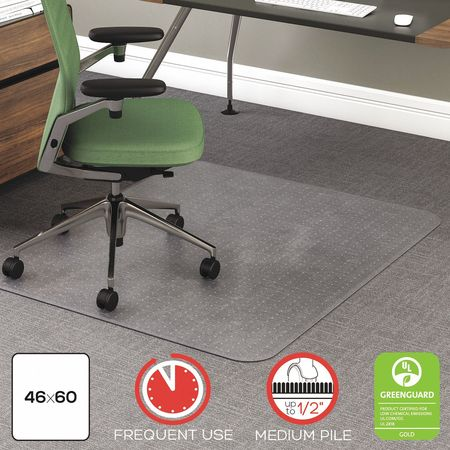 desk chair mat for high pile carpet chrome dining chairs australia deflecto 46 x60 clr cm15443f zoro com