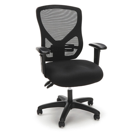 office chair with adjustable arms salon chairs wholesale essentials by ofm mesh black ess 3051